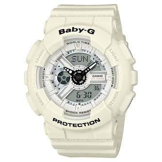 Baby-G Punching Pattern White Resin Strap Watch - Product number 6251102