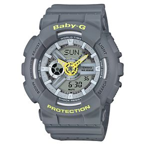 Casio Baby-G Ladies' Punching Pattern Grey Strap Watch - Product number 6251110