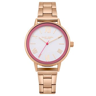 Daisy Dixon Emmie Ladies' Rose Gold-Plated Bracelet Watch - Product number 6251218