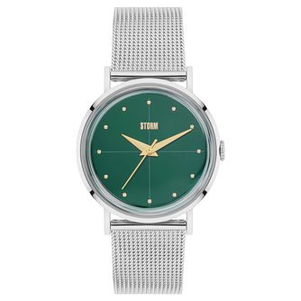 STORM Ladies' Stainless Steel Green Dial Mesh Bracelet Watch - Product number 6251277