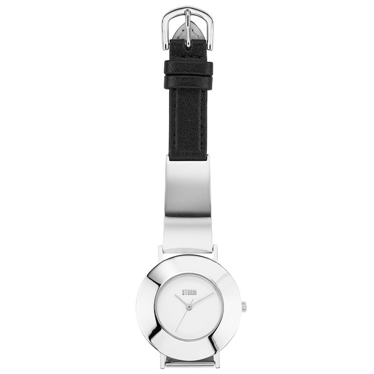 STORM Ladies' Silver & Leather Strap White Dial Watch - Product number 6251420