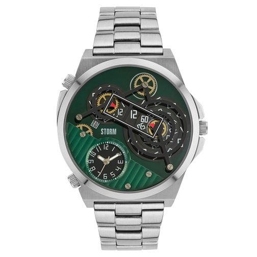 STORM Men's Stainless Steel Green Multi Dial Bracelet Watch - Product number 6251641