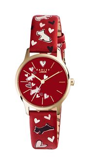 Radley Ladies' Printed Red Leather Strap Watch - Product number 6251781