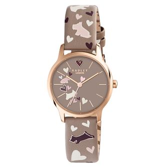 Radley Ladies' Printed Grey Leather Strap Watch - Product number 6251803