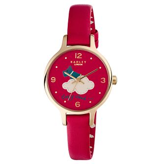 Radley Every Cloud Ladies' Deep Pink Leather Strap Watch - Product number 6251811