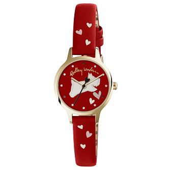Radley Ladies' Printed Red Leather Strap Watch - Product number 6251838