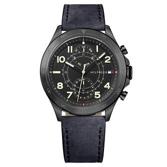 Tommy Hilfiger Men's Navy Leather Strap Watch - Product number 6252087