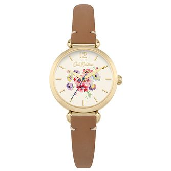 Cath Kidston Ladies' Tan Leather Strap Watch - Product number 6252176