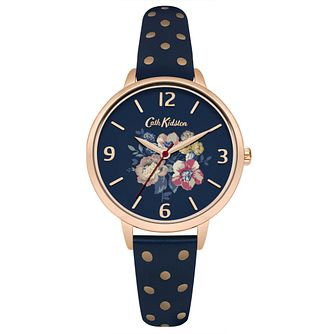 Cath Kidston Ladies' Navy Leather Strap Watch - Product number 6252184