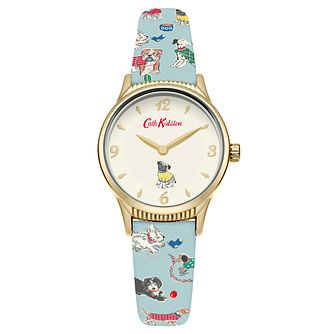 Cath Kidston Ladies' Blue Printed Strap Watch - Product number 6252192