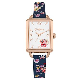 Cath Kidston Ladies' Navy Printed Strap Watch - Product number 6252214