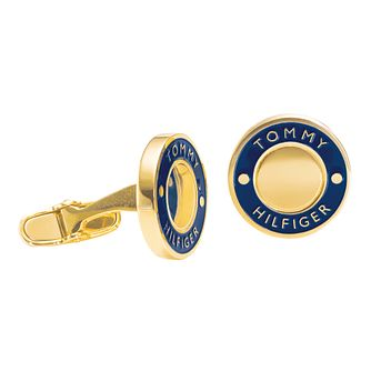 Tommy Hilfiger Men's Gold Plated Coin Cufflinks - Product number 6252877