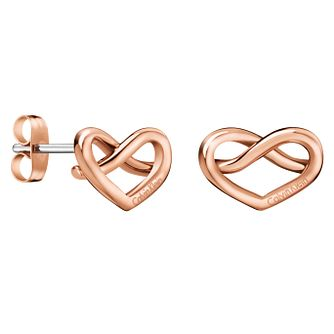 Calvin Klein Charming Rose Gold PVD Stud Earrings - Product number 6253474