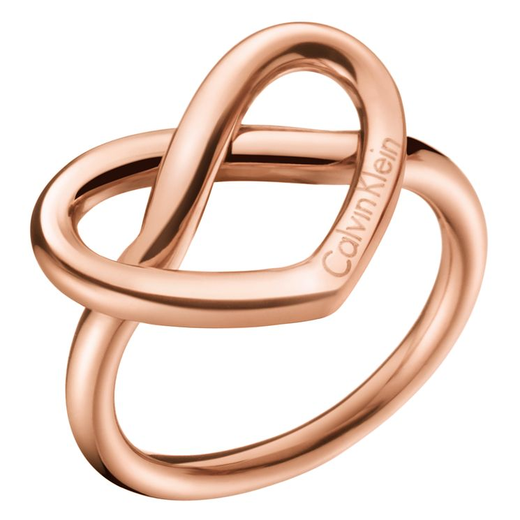 Calvin Klein Charming Rose Gold PVD Ring Size 7 - Product number 6253733