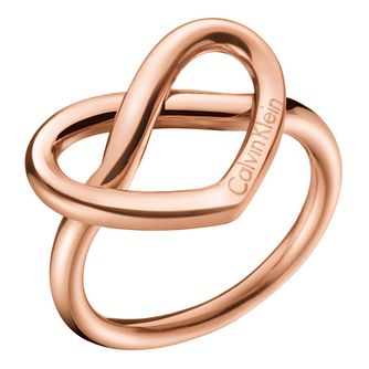 Calvin Klein Charming Rose Gold PVD Ring Size 8 - Product number 6253741