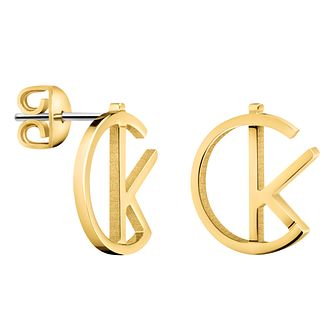 Calvin Klein League Gold PVD Stud Earrings - Product number 6253768