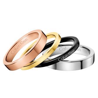 Calvin Klein Multi Colour Gorgeous Ring Set Size 7 - Product number 6253792