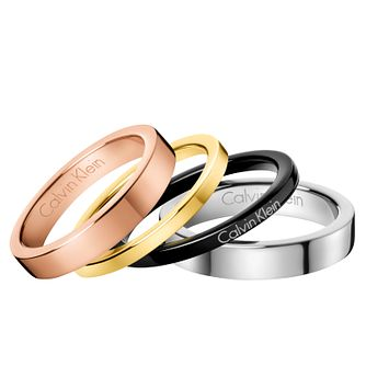 Calvin Klein Multi Colour Gorgeous Ring Set Size 8 - Product number 6253806
