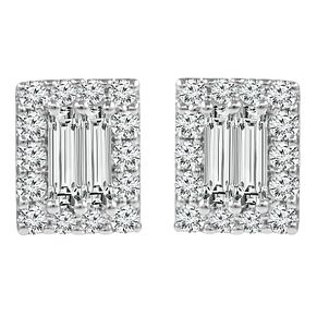 Emmy London 9ct White Gold 1/5ct Diamond Earring - Product number 6254764