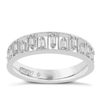 Emmy London Palladium 1/4 Carat Baguette Cut Diamond Ring - Product number 6256007