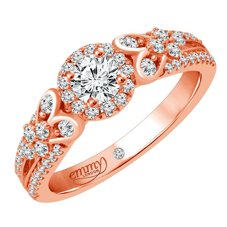 Emmy London 18 Carat Rose Gold 2/3 Carat Diamond Ring - Product number 6256570