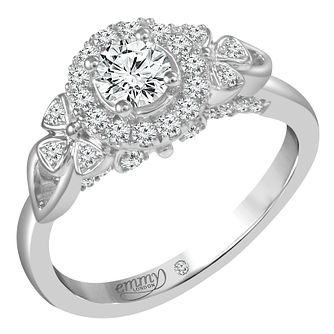 Emmy London Palladium 2/3 Carat Round Cut Diamond Set Ring - Product number 6259936