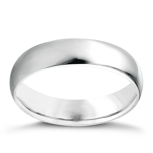 Platinum D shape extra heavy weight 5mm ring - Product number 6261655