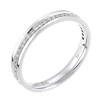 9ct White Gold 15 Point Diamond Wedding Ring - Product number 6284787