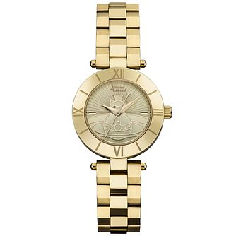 Vivienne Westwood Ladies' Gold Plated Bracelet Watch - Product number 6290795