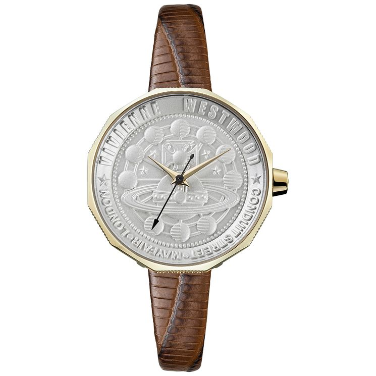 Vivienne Westwood Edgware Ladies' Gold Plated Strap Watch - Product number 6290884