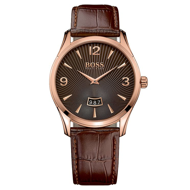 Hugo Boss Men's Rose Gold Tone Strap Watch - Product number 6297196