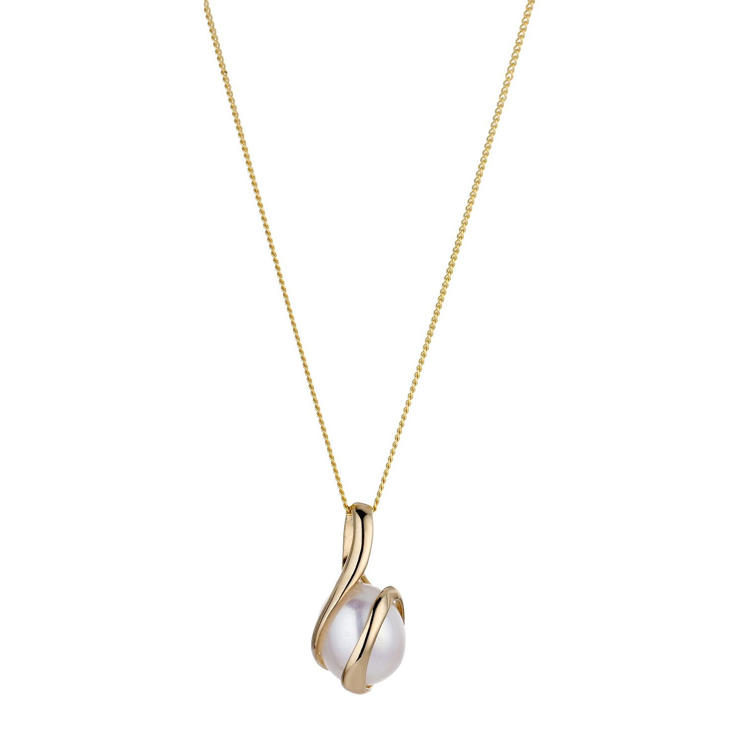 Pearl necklaces hmuel 9ct gold cultured freshwater pearl pendant product number 6301975 aloadofball Gallery