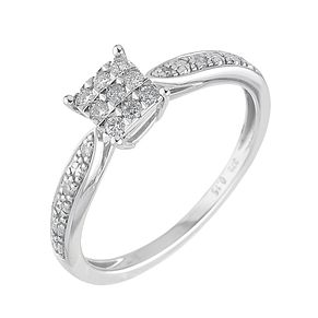 9ct White Gold 15 Point Diamond Ring - Product number 6310583