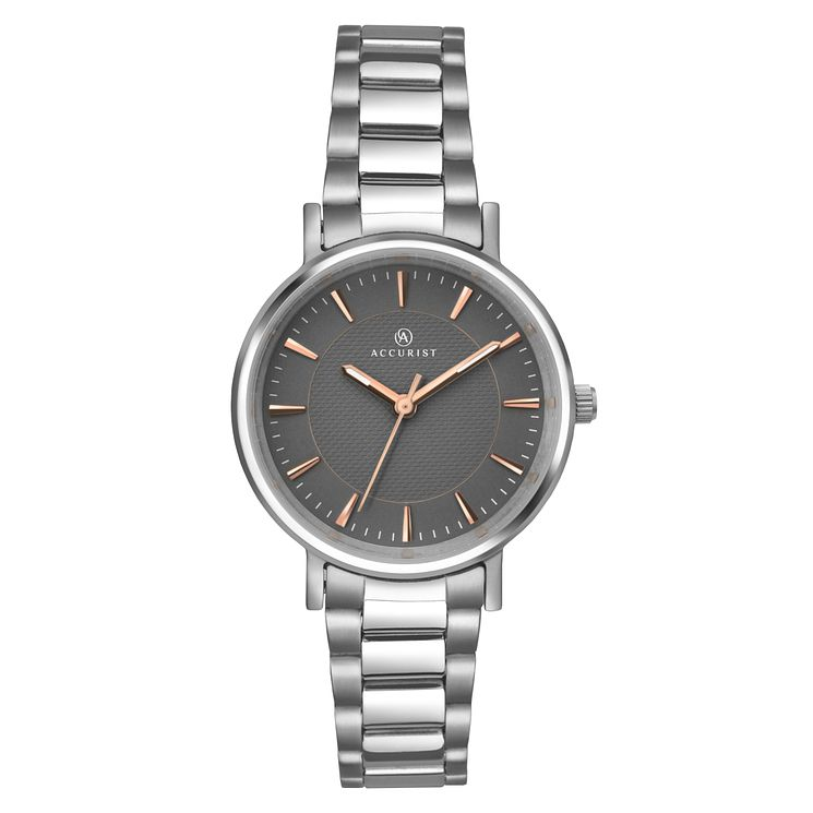 Accurist Ladies' Titanium Grey Dial Bracelet Watch - Product number 6319769