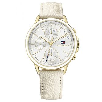 Tommy Hilfiger Ladies'  White Leather Strap Watch - Product number 6319831