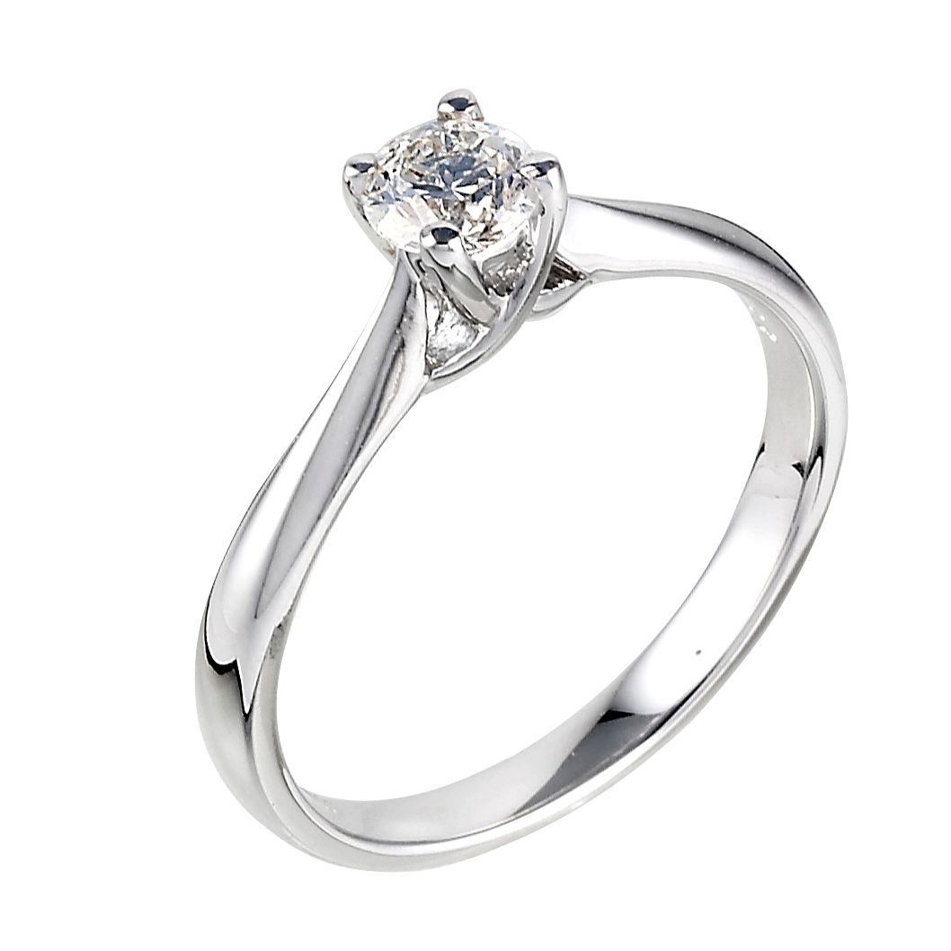 solitaire white jewellery in gold diamond ring forevermark