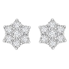 18ct gold 0.50ct diamond daisy cluster stud earrings - Product number 6335071
