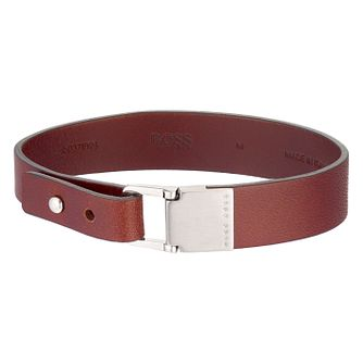 Hugo Boss Men's Brown Leather Bracelet - Product number 6344887