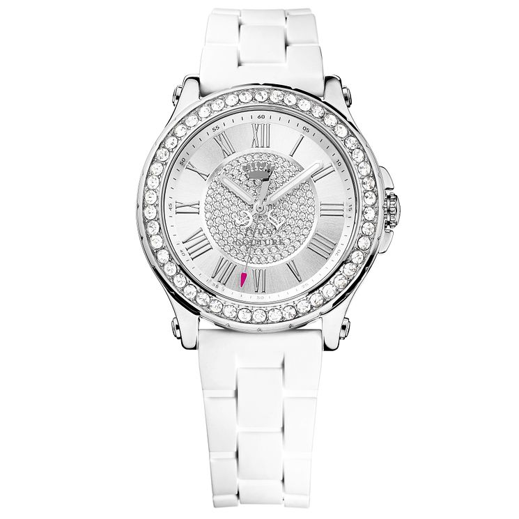 Juicy Couture White Siliconee Strap Watch - Product number 6347045