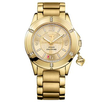 Juicy Couture Gold Plated Stainless Steel Bracelet Watch - Product number 6347614
