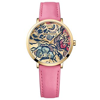 Juicy Couture Pink Leather Strap Watch - Product number 6347703