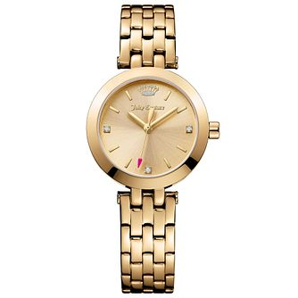 Juicy Couture Gold Plated Stainless Steel Bracelet Watch - Product number 6347738