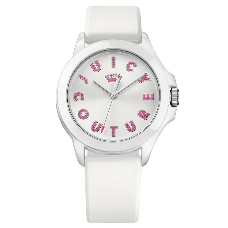 Juicy Couture White Siliconee Strap Watch - Product number 6347754