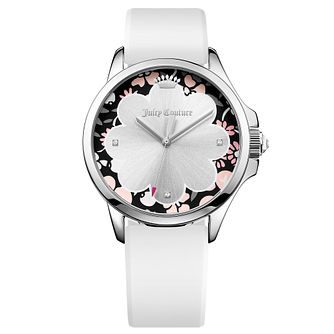 Juicy Couture White Siliconee Strap Watch - Product number 6347932