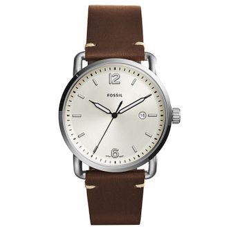 Fossil Commuter Men's Brown Leather Strap Watch - Product number 6348297