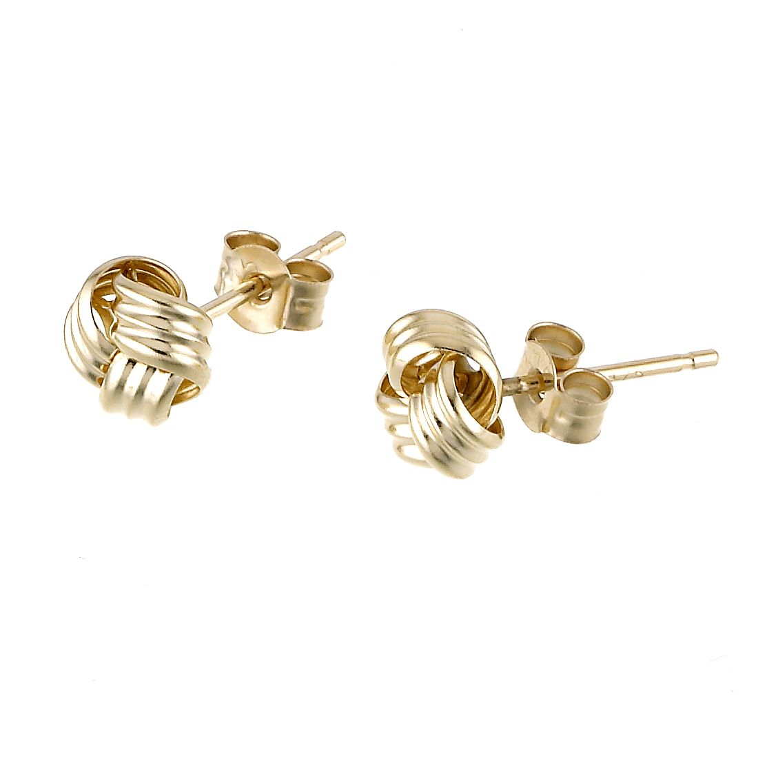 9ct yellow gold small knot stud earrings - Ernest Jones