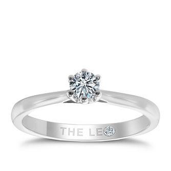 Leo Diamond 18ct White Gold 0.20ct CT I-P1 Diamond Ring - Product number 6348629
