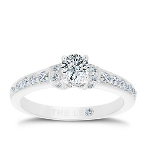 Leo Diamond 18ct White Gold 3/4ct Brilliant Diamond Ring - Product number 6349455