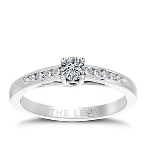 Leo Diamond 18ct White Gold 1/3ct Diamond Ring - Product number 6350410