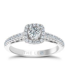 Leo Diamond 18ct White Gold 0.50ct Diamond Halo Ring - Product number 6350631